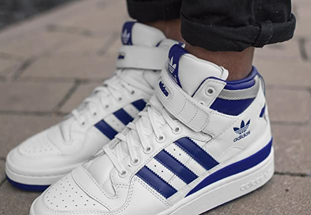 adidas Forum Mid Refined Calzado white/royal/silver, Talla - 38: Amazon.es: Zapatos y complementos