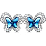 KATE LYNN Women's Swarovski Crystals Butterfly ❤️from the Beautiful Butterfly World❤️ Earrings (with Gift Box)