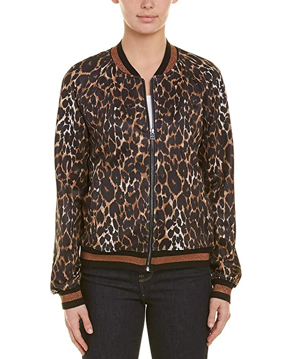 c2f3aaf78892 Amazon.com: Pam & Gela Womens Leopard Track Jacket, S, Brown: Clothing