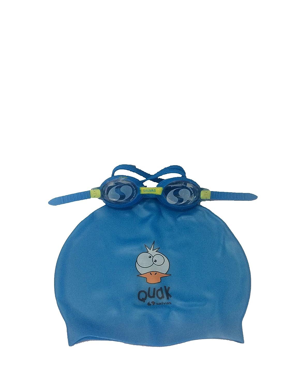 SLV Lunettes de Natation pour Enfants et Bonnet de Bain en Silicone