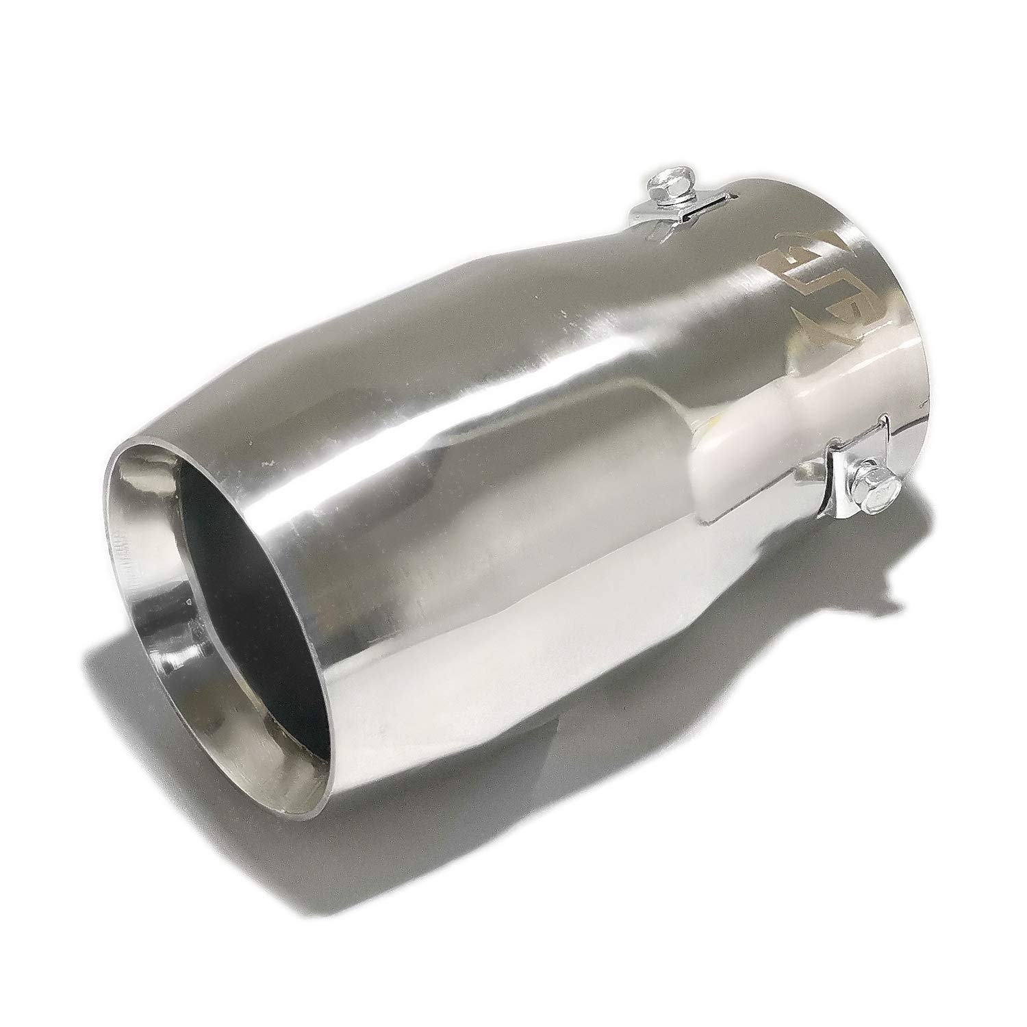 Stainless Steel to give Chrome Effect Double Wall Exhaust tip Car Muffler Tips to Fit 2 to 2.5 Inch Exhaust Tail Pipe Diameter