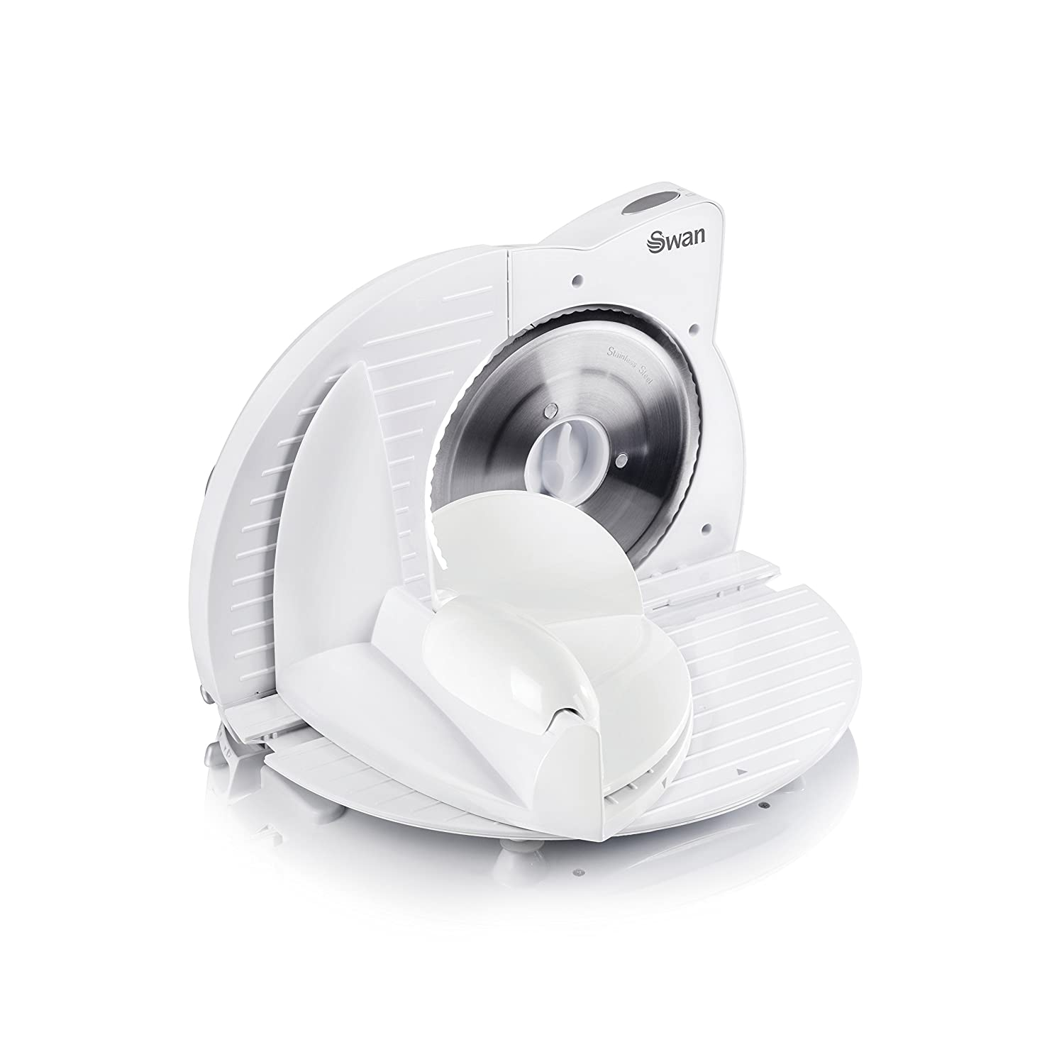 Swan SP10060N Compact White Food Slicer - 150 W, White