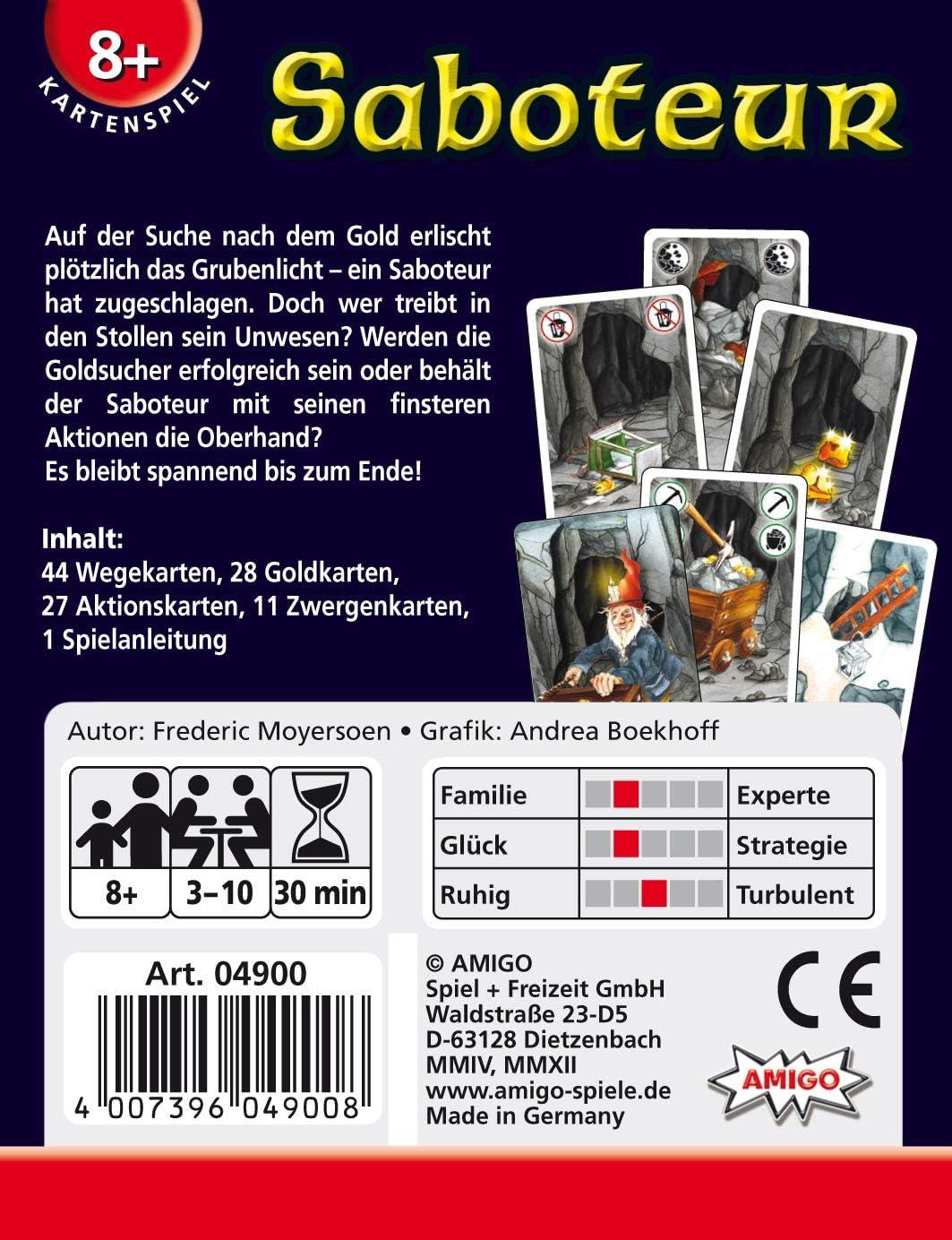 Amigo Spiele - Saboteur, Juego de Mesa (4900) [versión en alemán ...