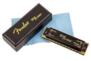 Fender Blues Deville Harmonica, Key of A (Color: Black, Tamaño: A)