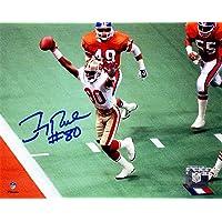 $131 » Jerry Rice Signed San Francisco 49ers Super Bowl TD vs Broncos 8x10 Photo