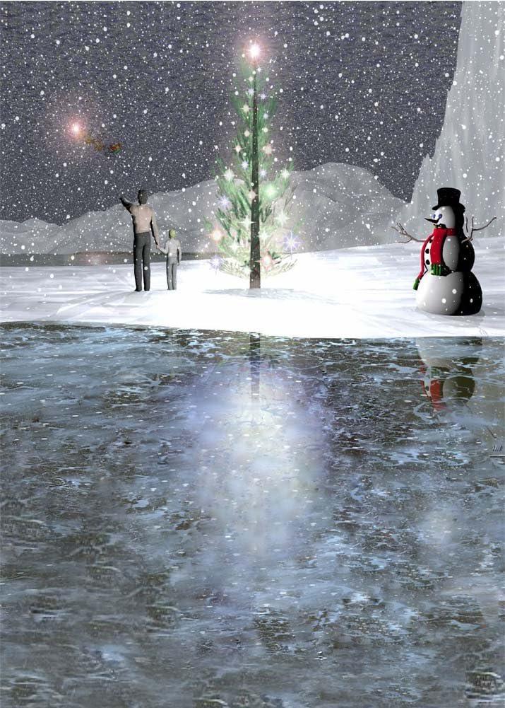GladsBuy Warm Xmas Tree 8 x 8 Computer Printed Photography Backdrop Christmas Theme Background DGX-27