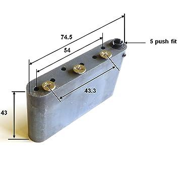 WVP Guitar tremolo block solid steel including screws 10 8