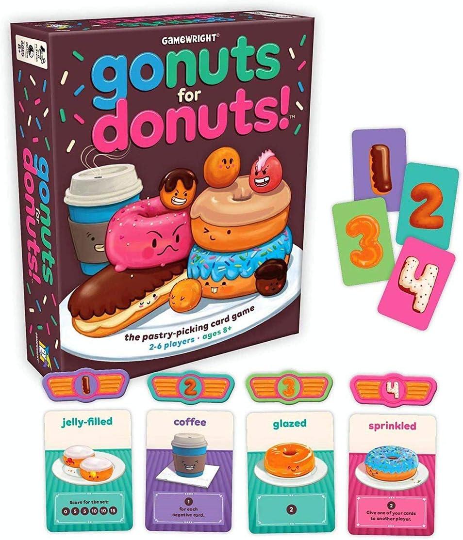 Gamewright Juego de Cartas «Go Nuts for Donuts». Juego de Mesa, 111.: Amazon.es: Juguetes y juegos