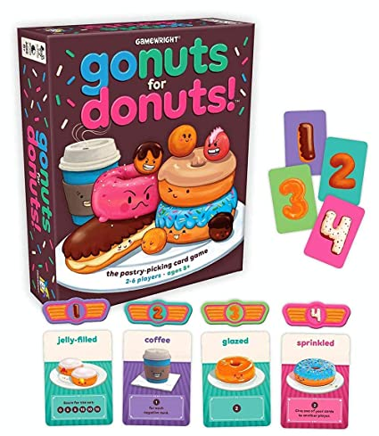 Amazoncom Gamewright Go Nuts For Donuts Card Game Toys Games