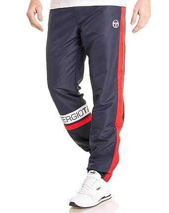 5485785caeb Sergio Tacchini - Pantalon de Jogging de Marque Couleur Bleu Rouge CAVA -  Couleur  Bleu