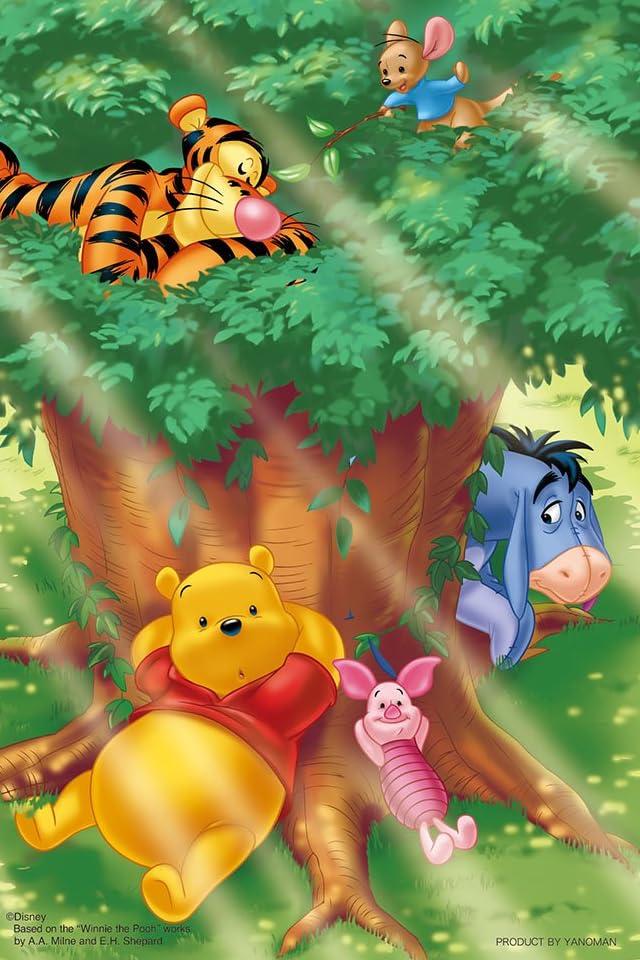 ディズニー くまのプーさん 大きな木の下で iPhone(640×960)壁紙画像