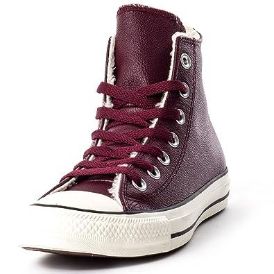 bb6691d278246 Converse Leather Chucks 132128C CTAS Hi Lea Brown Shearling Lining ...