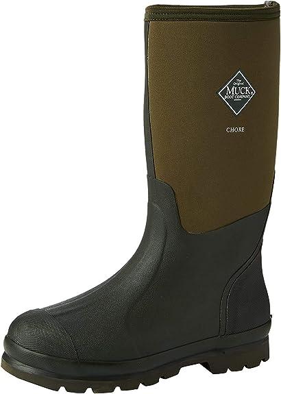 Muck Boots CHH000A-8 Chore High Work Boots Black Unisex Size 8 Men//9 Women