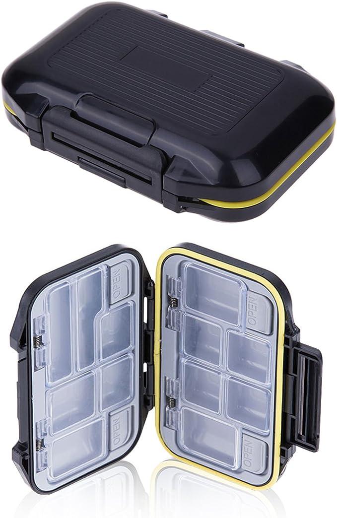 Fishing Lure Hook Box Fishing Bait Storage Tackle Trays Waterproof Yellow S