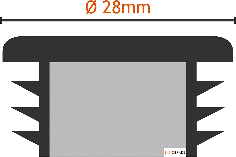 Rohrau/ßendurchmesser: 20mm, Rohrwandst/ärke: 1-2mm, Schwarz Rundstopfen M/öbelgleiter Lamellenstopfen ALLE GR/Ö/ßEN W/ÄHLBAR 10mm bis 120mm Schutzkappen 10 St/ück Rund-Rohrstopfen