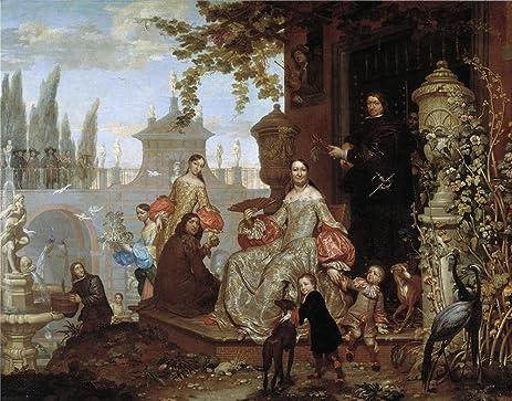 Amazon.com: Oil Painting \'Kessel El Joven Jan Van Familia En Un ...