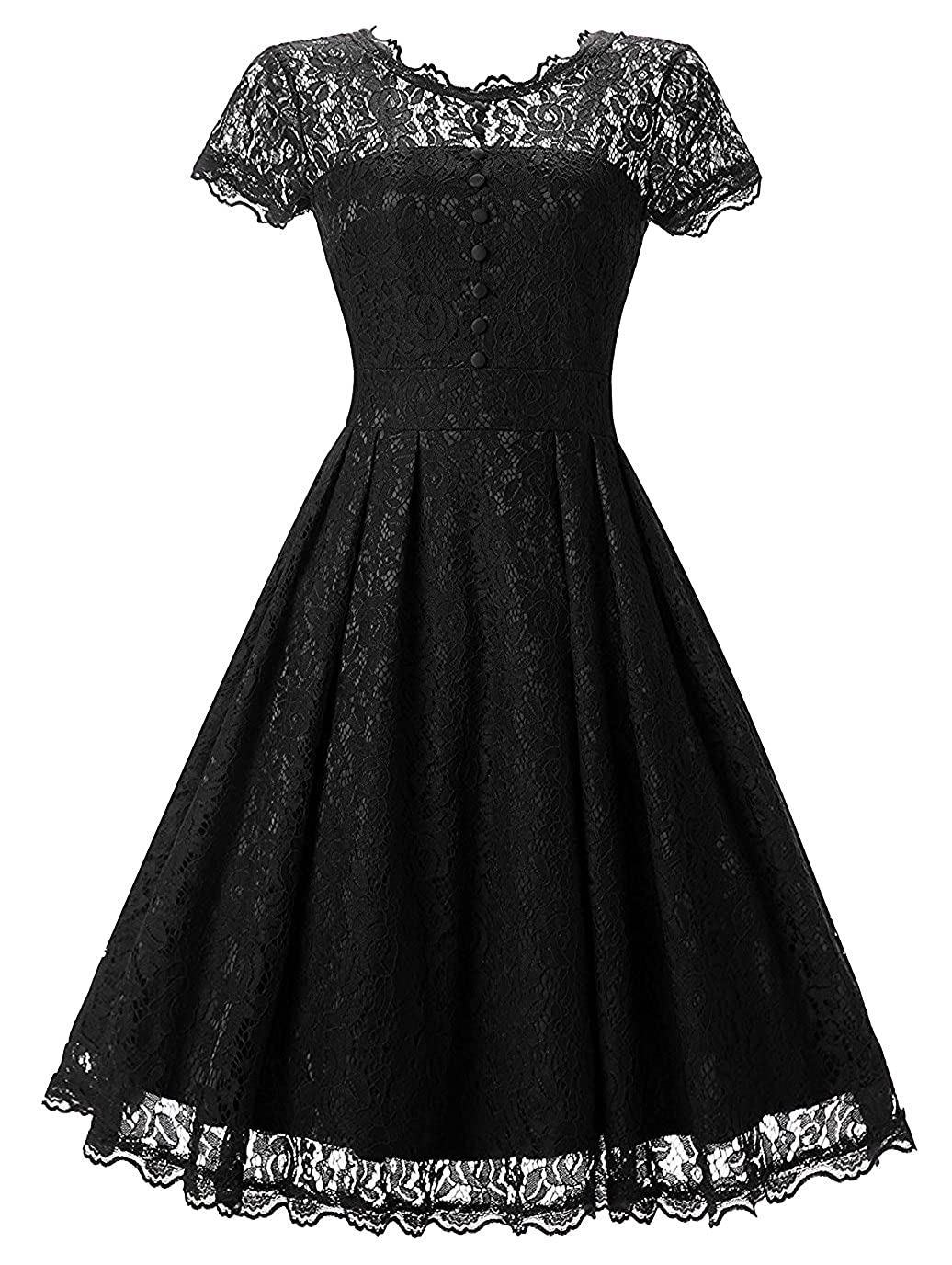 a427d3721c1b Feature: High Quality, Retro Style, Floral Lace, Cap Sleeve, Solid , Swing  Skirt. Material: 64% Cotton,32% Nylon,4%Spandex(Inside),100% Nylon(Outside)