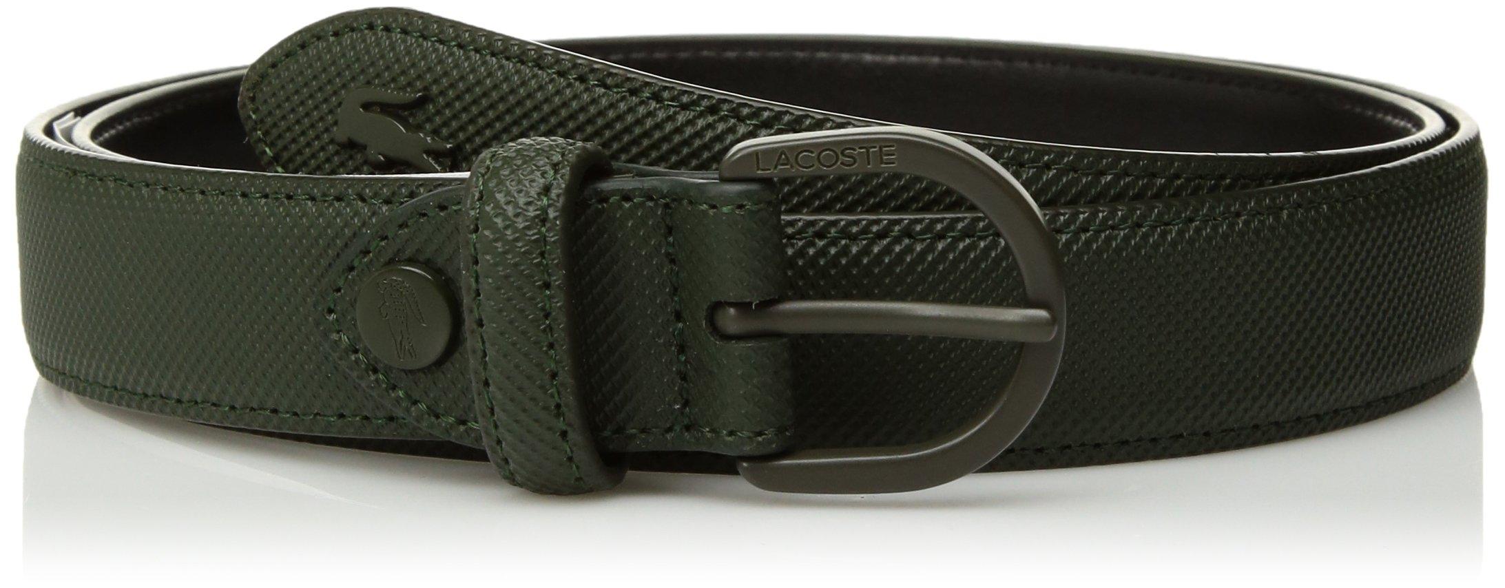 Lacoste Women's Reversible Pique Belt, Rosin, 35 in