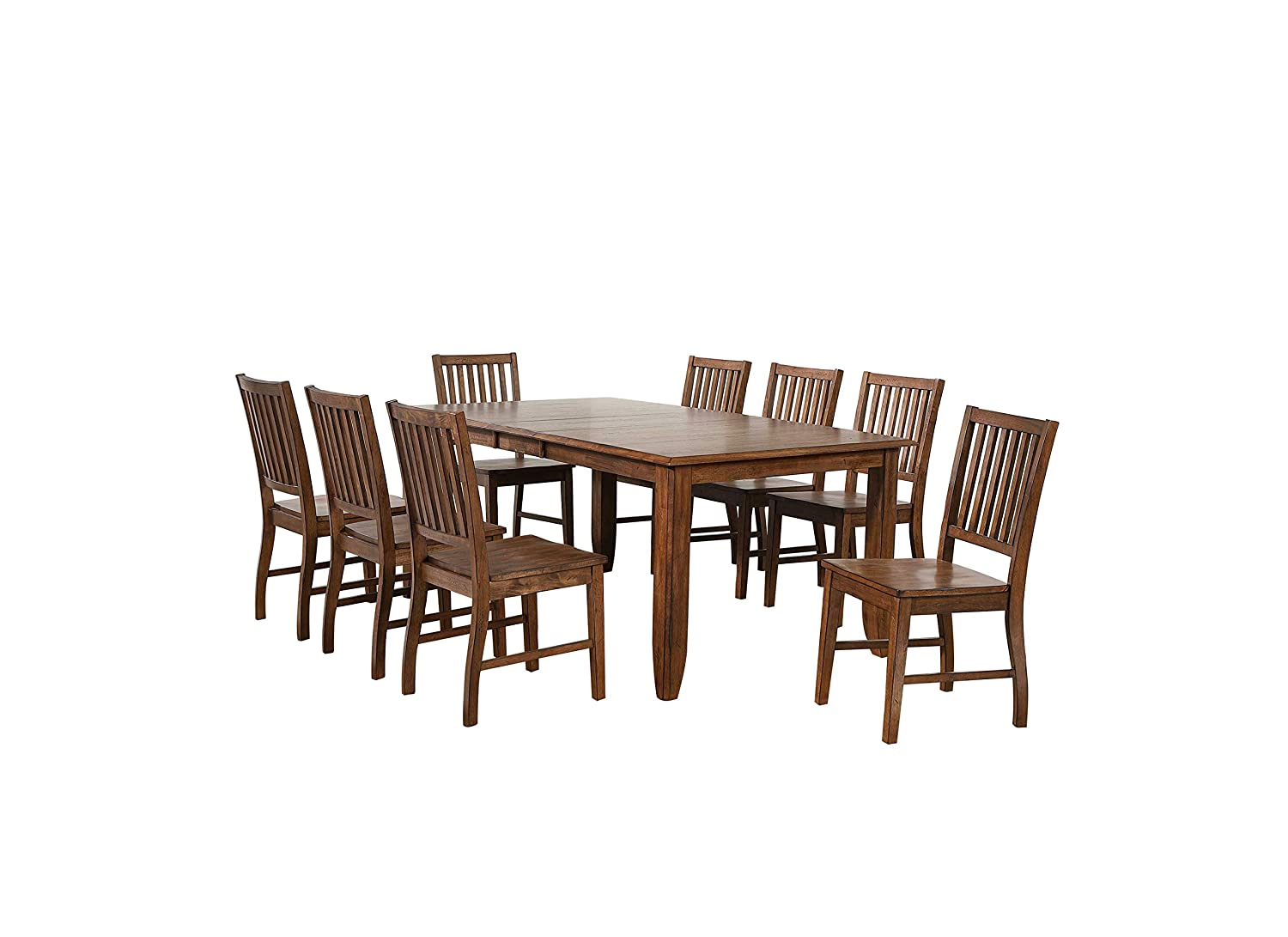 Sunset Trading Simply Brook Dining Table Set, Two size, Amish Brown