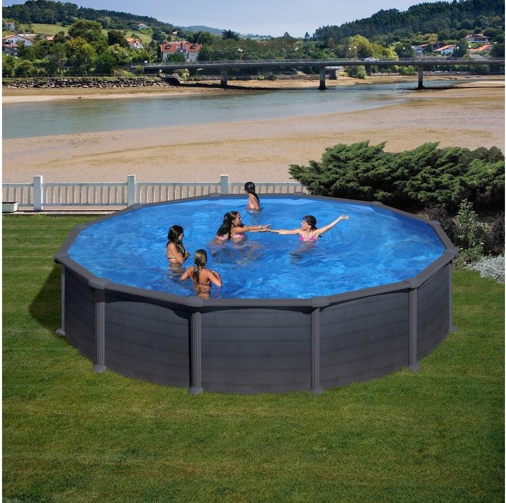 Piscina de acero redonda Gre Granada 550x132cm: Amazon.es: Hogar