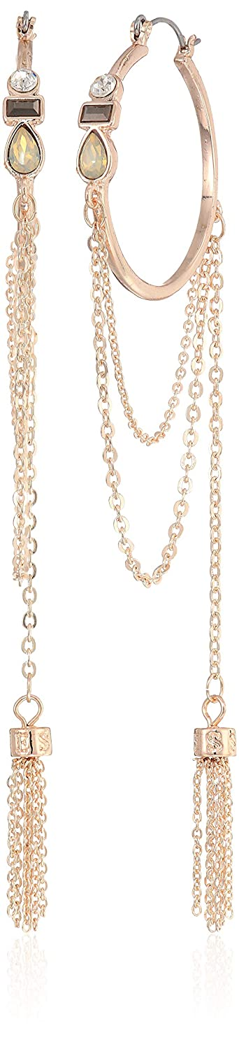 Rose Gold One Size GUESS Womens Chain Hoop Earrings
