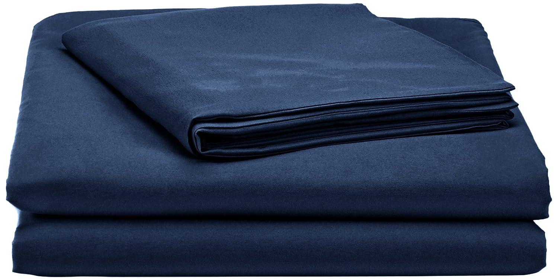 Basics Parure de lit avec housse de couette en microfibre 140 x 200 cm Bleu marine