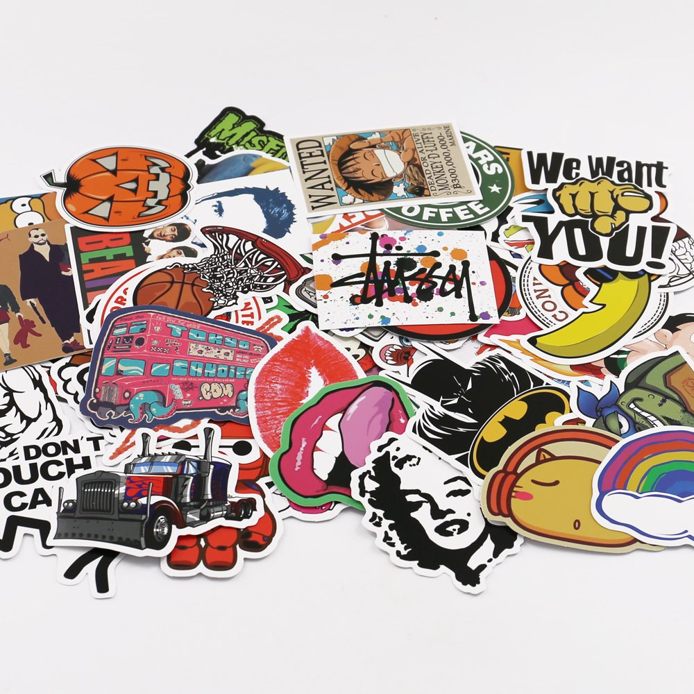 Buy utsauto graffiti stickers decals pack of 100 pcs car stickers motorcycle bicycle skateboard luggage phone pad laptop stickers and bumper patches decals