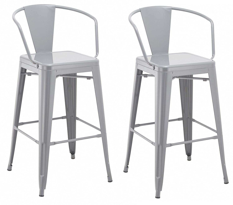 Excellent Amazon Com Duhome 2 Pcs 30 Metal Bar Stools Bar Chair Pabps2019 Chair Design Images Pabps2019Com