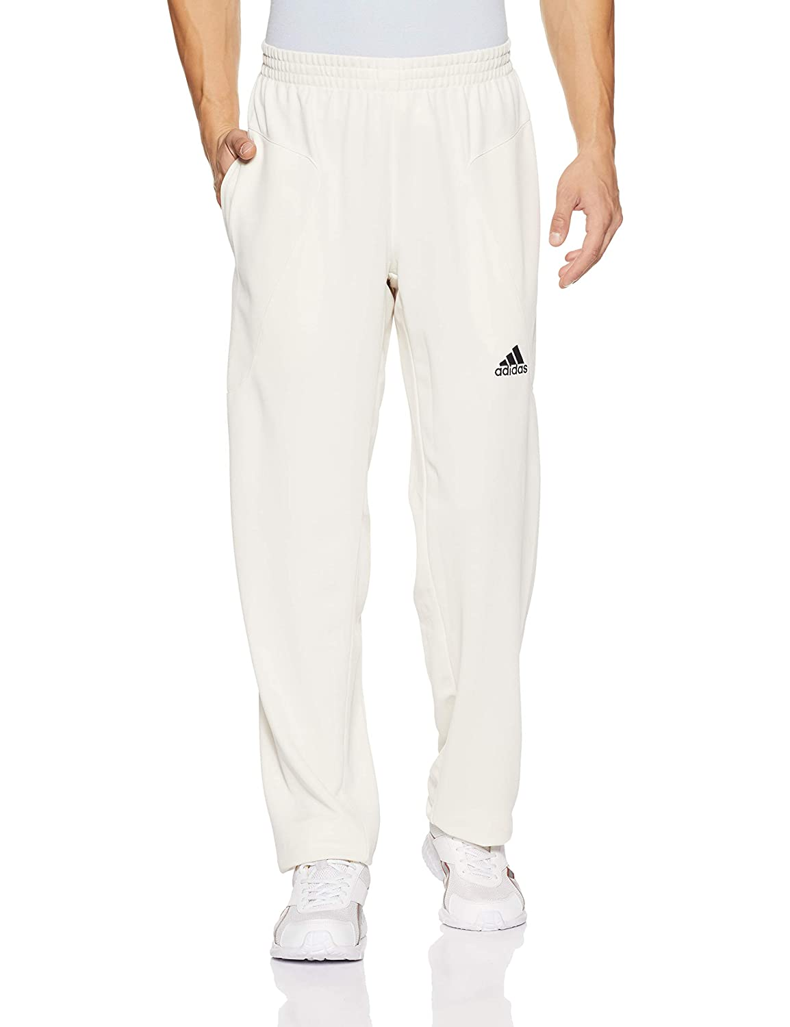 adidas Howzat Mens Cricket Whites Batting Bowling Pant Trouser White - 46' AJ451562
