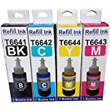 Flowjet #1 Rated Photo Quality Refill Ink Bottle 664 For Epson L100 L110 L130 L200 L210 l220 L310 L355 L300 L350 L380 L385 L485 L550 L565 L360 L365 Highly Appreciated And Loved By All.