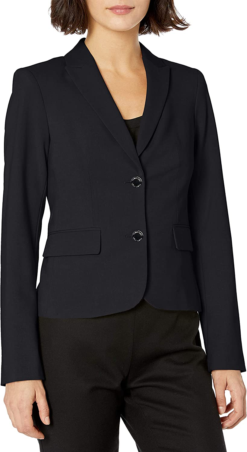 Calvin Klein Women's Two Button Lux Blazer (Standard, Petite, & Plus)