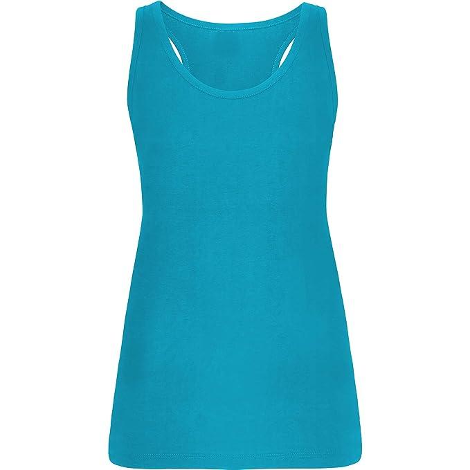 Damen Tank Top Tanktop Shirt mit Rückenausschnitt kurze Ärmel X Träger