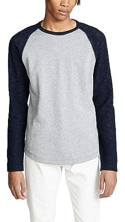 7de2e211db9 Amazon.com  Vince Men s Colorblock Double Knit Crew Neck Shirt  Clothing