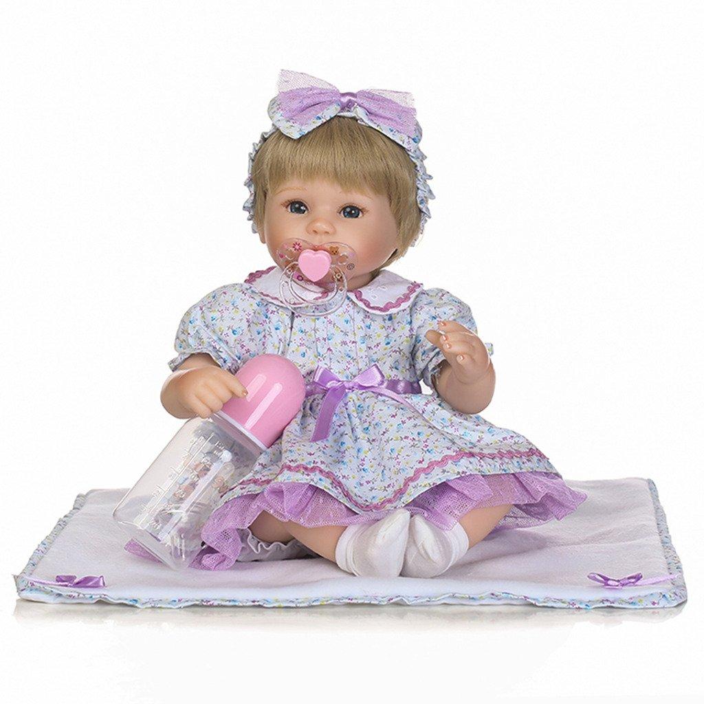 autentico en linea Npkdoll bébé poupée poupée poupée doux Simulation Silicone Vinyle 40,6 cm 38–42 cm réaliste mignon Fille avec jupe Yeux ouverts Couverture Pince à cheveux magnétique Bébés toucher confortable sans danger des  disfrutando de sus compras