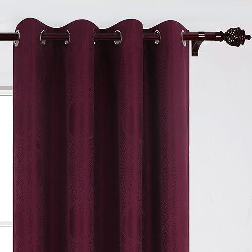 Best window curtain panel: Deconovo Darkening Grommet Jacquard Window Curtain Panels
