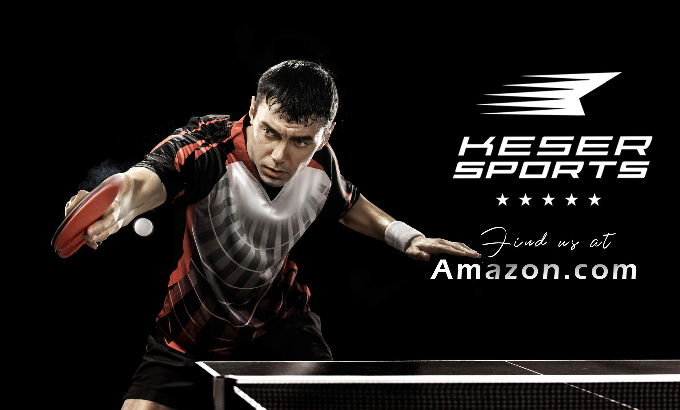 Keser Sports 5-Star Ping Pong Paddle Set, 4-Player Racket Set Bundle, 8 Professional ABS Balls, Portable Storage Bag, Full Table Tennis Set, Advanced Spin, Speed & Control, Play Outdoors/Indoors by Keser Sports (Image #2)