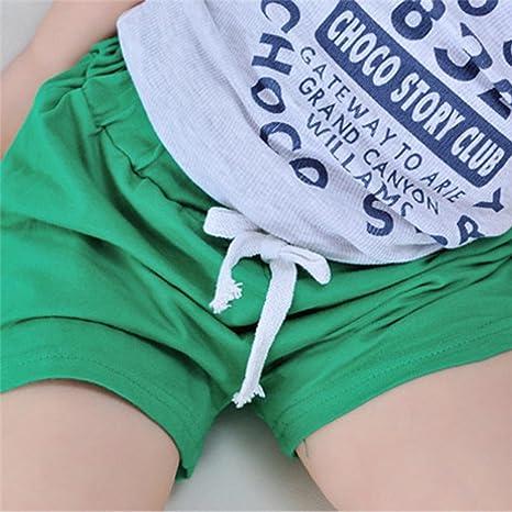 Winsummer Summer Baby Boys Girls Cotton Surf Beach Swim Shorts Pants for 2-6 Years Old Adjustable Waist