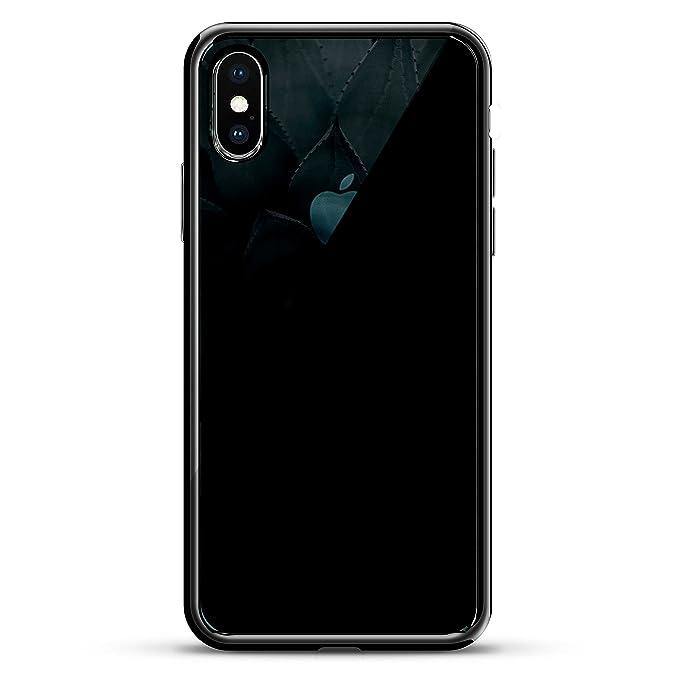 the latest b77a5 394f5 ALOE FLOWER SEETHROUGH | Luxendary Chrome Series designer case for iPhone X  in Titanium Black trim