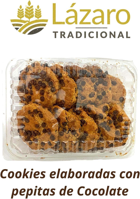 Lázaro Cookies Pepitas de Chocolate, 300g, Pack de 4 unidades.: Amazon.es: Alimentación y bebidas