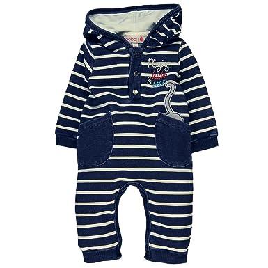 edf84ce5c boboli Baby Fleece Play Suit Denim Romper  Amazon.co.uk  Clothing