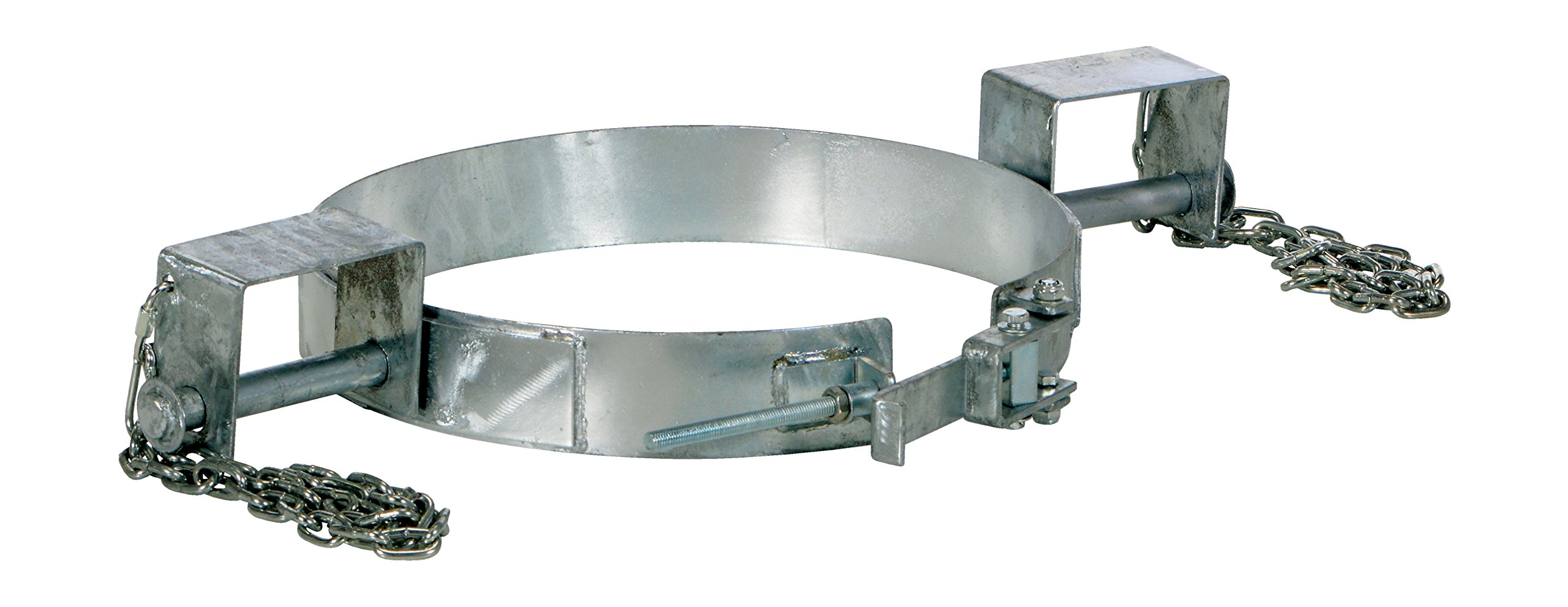 Vestil TDR-30-G Galvanized Tilting Drum Ring, 25.5'' Length, 30 gal