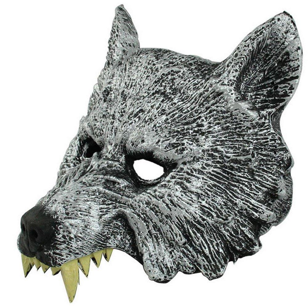 BEETEST Máscara de goma Wolf hombre lobo para Cosplay Halloween Props Masquerade Ball Bar decoración disfraz: Amazon.es: Juguetes y juegos
