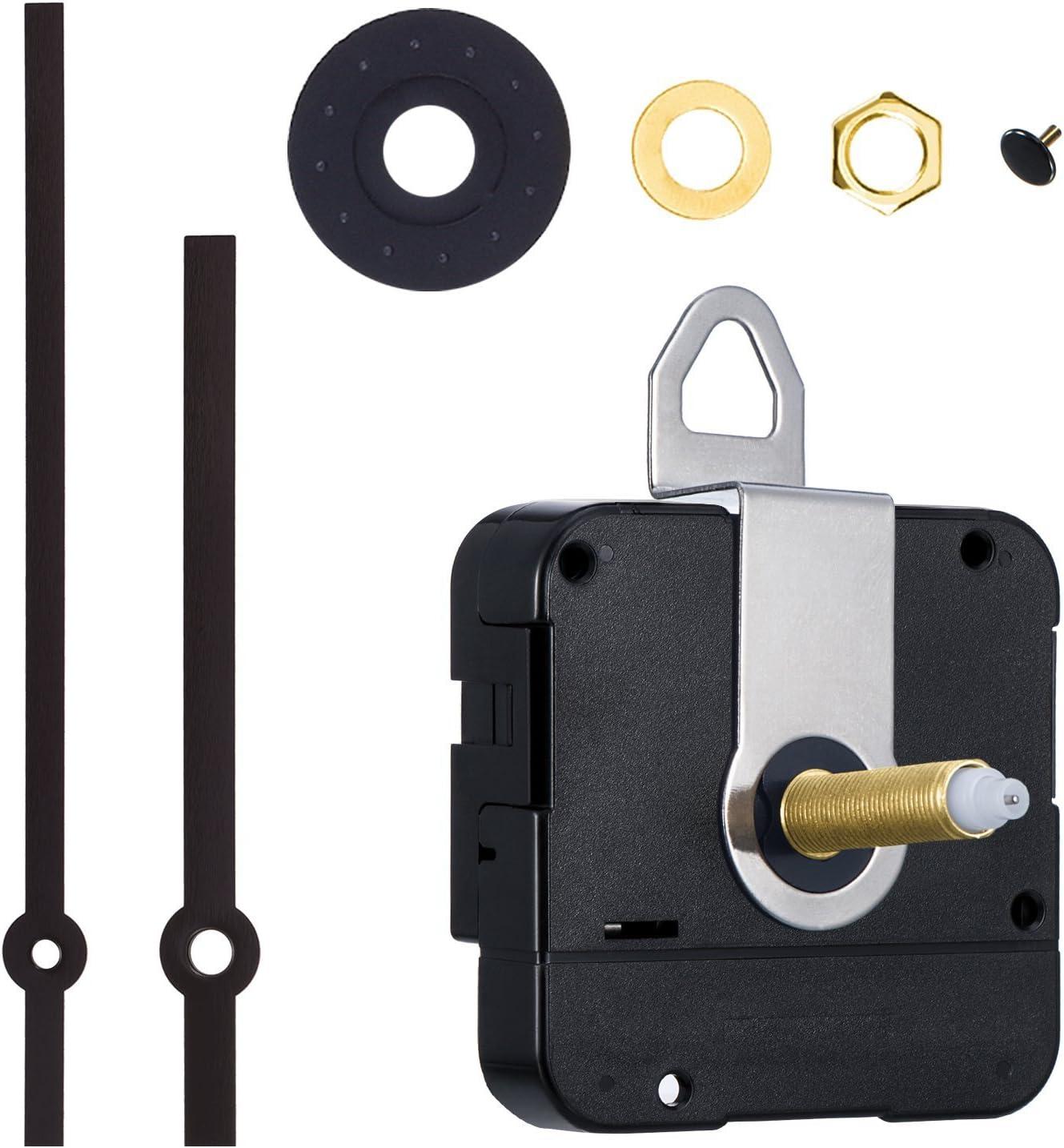 Movimiento de Reloj de Cuarzo de Eje Largo de 31 mm Kit de Reparación de Reloj de DIY (Negro)