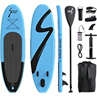 streakboard Inflatable Stand Up Paddle Board Surfing SUP Boards, No Slip Deck 6 Inches Thick ISUP Boards with Free SUP…