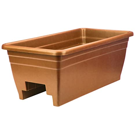 Akro Mils SPX24DB0E24 Deck Box Planter, Terra Cotta, 12 Inch