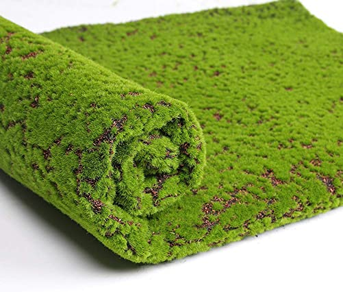 Aquarius CiCi Artificial Realistic Moss Grass Rug, Realistic Artificial Green Turf for Indoor Outdoor Decoration Dog Grass Mat 6.5×3.2 ft
