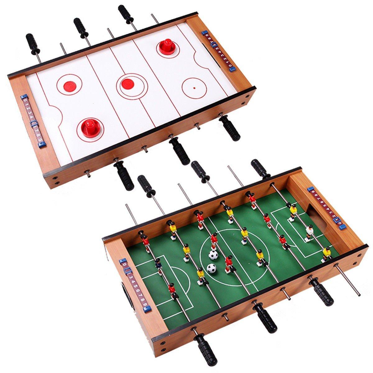 2-in-1 Indoor/Outdoor Air Hockey Foosball Game Table by Abbeydh
