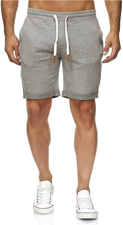 Indicode Pantalones cortos de ch/ándal Aldrich con interior de forro polar y cord/ón