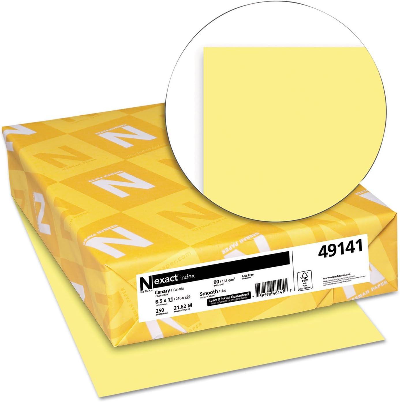 WAU49141 Neenah Paper Exact Index Card Stock Office Supplies Card ...