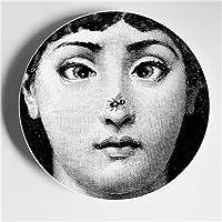 jingyia999 Plato Fornasetti Decoracion Artesanías De Porcelana Bar